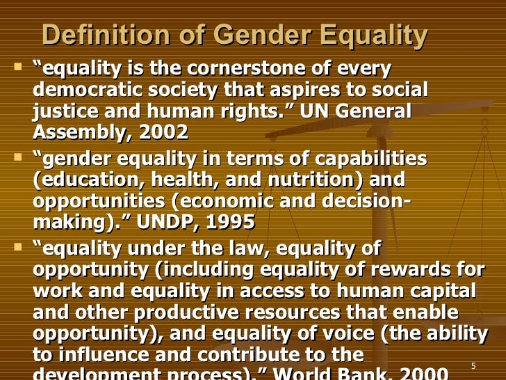 gender inequality development 5 definition of gender equality