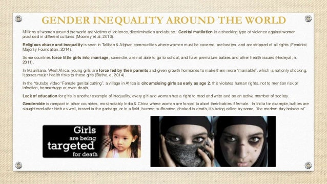 gender inequality in education essay The challenge around the world nearly 98 million girls are not in school globally, 1 in 3 women will experience gender-based violence in her lifetime.