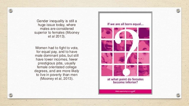 Gender inequality still exists essay
