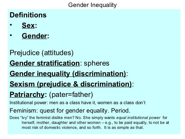 patriarchy as cause of gender inequality