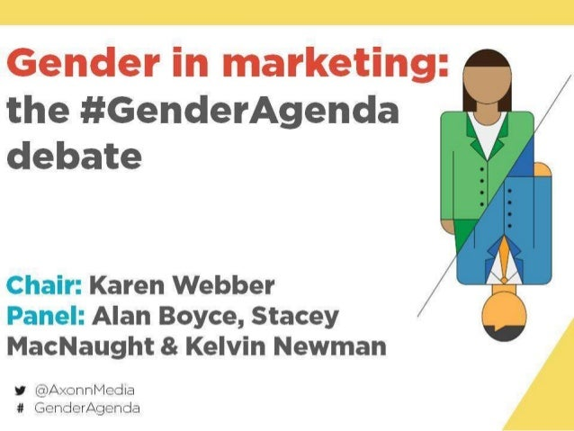How does gender affect you as a marketer?