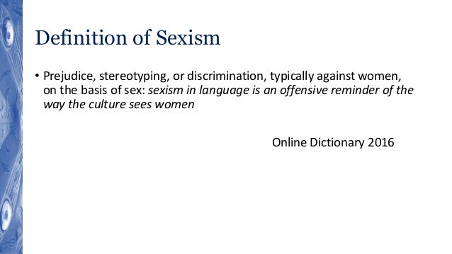 what is sexism definition