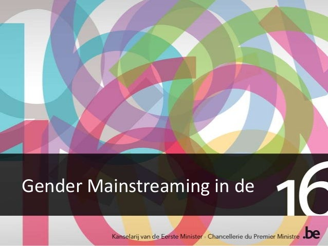 Gender Mainstreaming in de