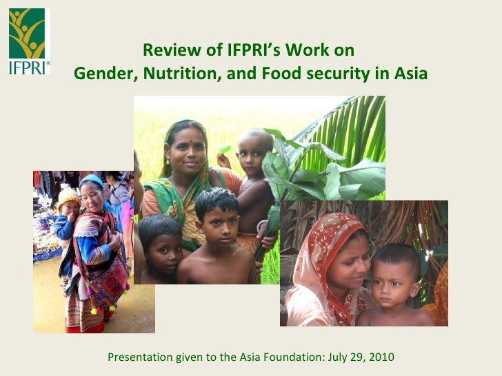 Gender nutrition food security in asia af final