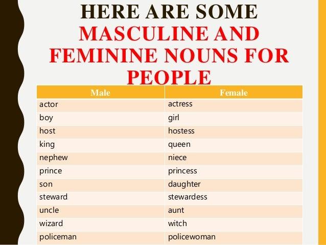 Gender of nouns 5