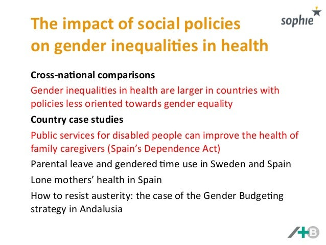 influence of gender socialisation causes of inequality Causes and effects of gender inequality defined gender as the social but about perceptions and understanding concerning the affiliation between males and females in society and how gender influences their attitudes.