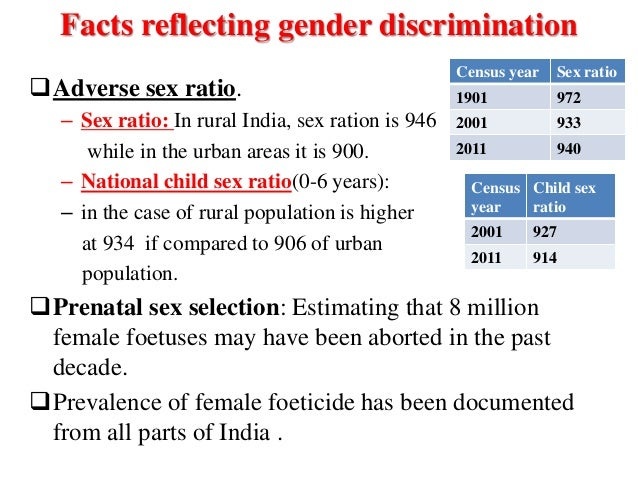 Discrimination with sex selection