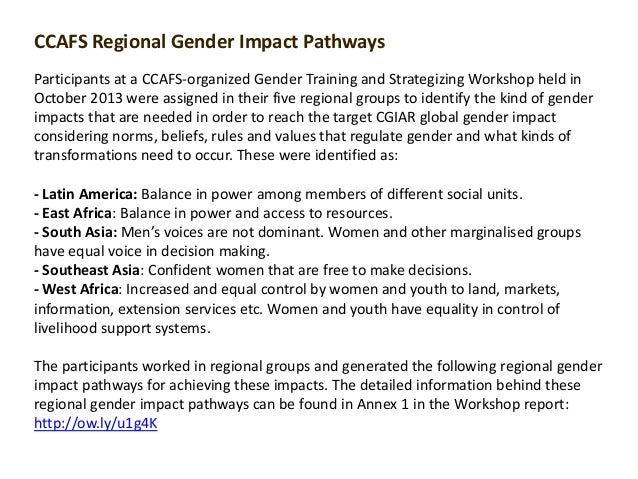 CCAFS Regional Gender Impact Pathways Participants at a CCAFS-organized Gender Training and Strategizing Workshop held in ...