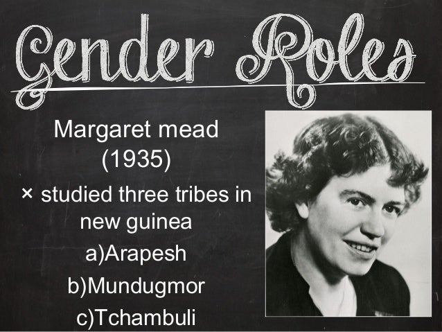 Margaret mead gender roles
