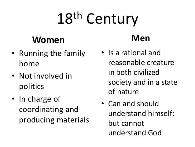 gender roles  but cannot understand god 6 19th century
