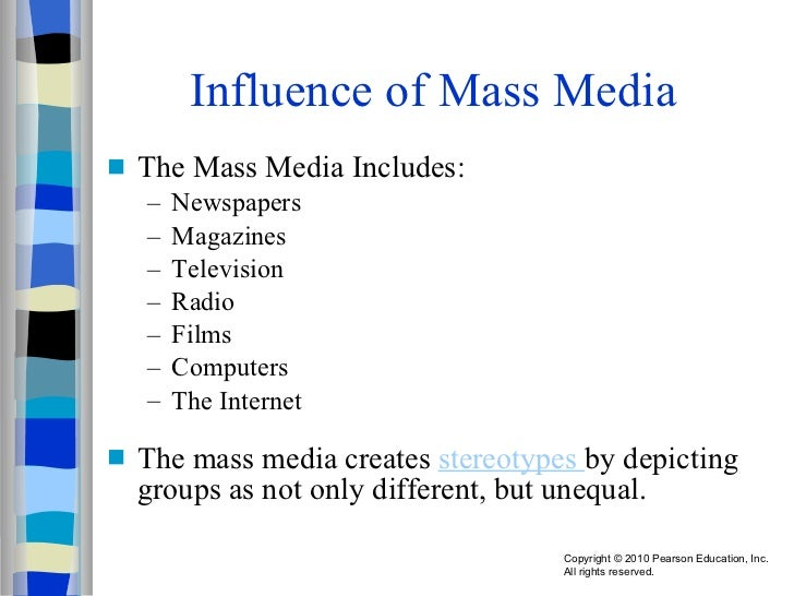 Mass media influence on the level