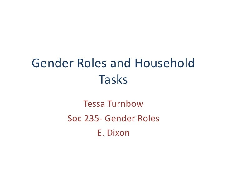 gender roles in american households An american role-reversal: women the new breadwinners as women gain strength, and money, in the workplace, households take on a whole new vibe.