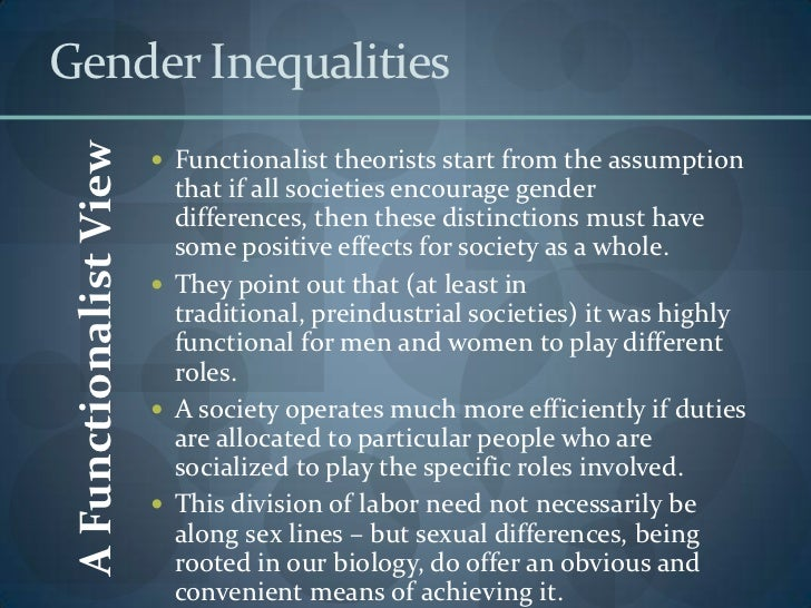 how does gender inequality affect society