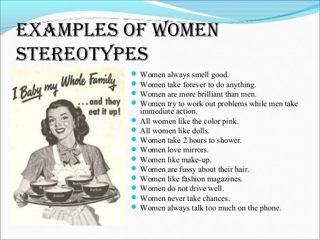 Gender Stereotypes, Quotes About And Men And Women On