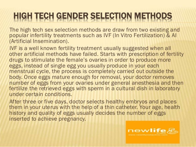 Sex selection methods for couples