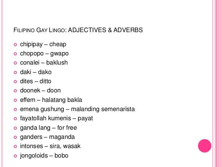 Homosexual slang terms