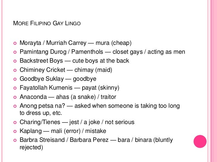 Nicknames for gay people