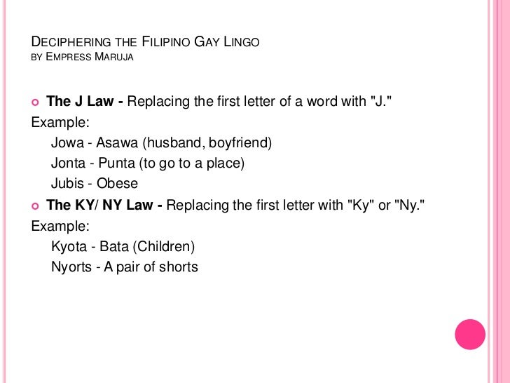 Understanding Filipino Gay Lingo