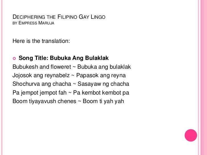 Filipino Gay Language 107