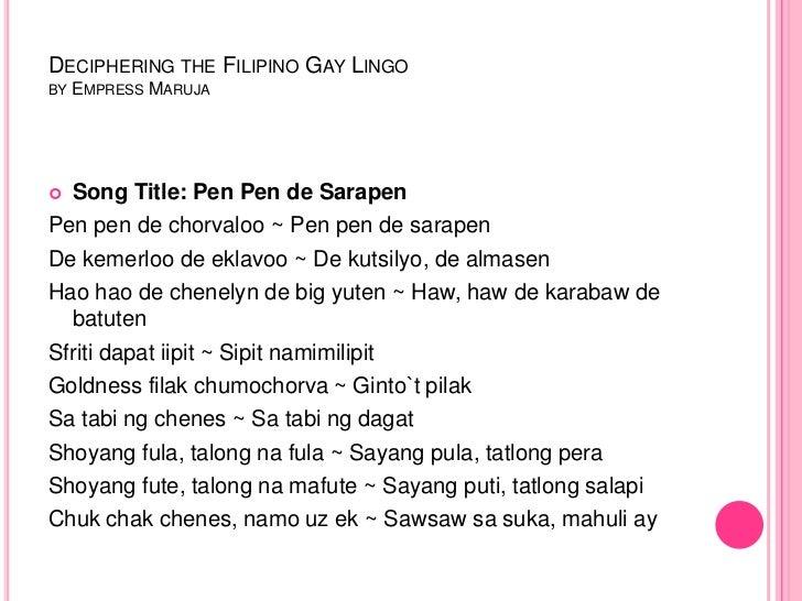 gay song titles