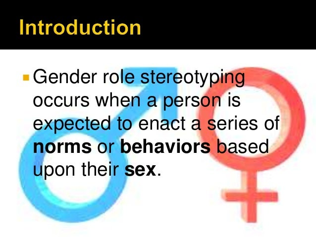 gender roles stereotypes and becoming an