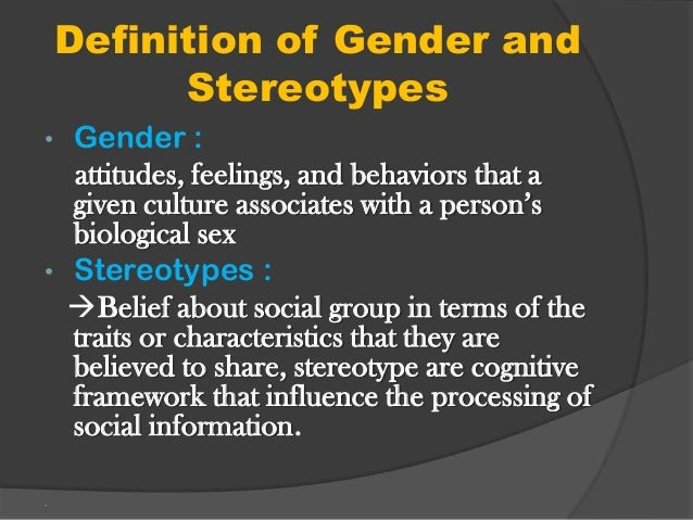 The division of sex and gender characteristics