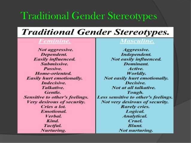 gender stereotypes essay Gender roles research paper starter homework help gender is defined by one's gender identity and learned gender role.