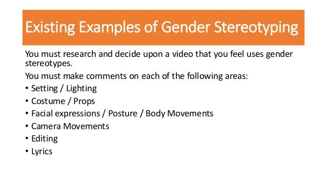 Gender stereotyping in music video