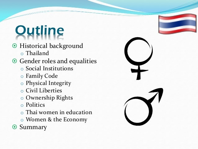 an overview of the gender situation Hypothetical situation which is far from the up to 40% cuts that are so controversial within the negotiations summary of principles for sound and gender-sensitive.