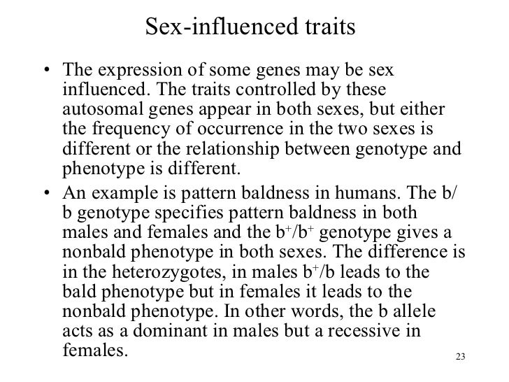 difference between sex limited and sex linked traits in Bootle