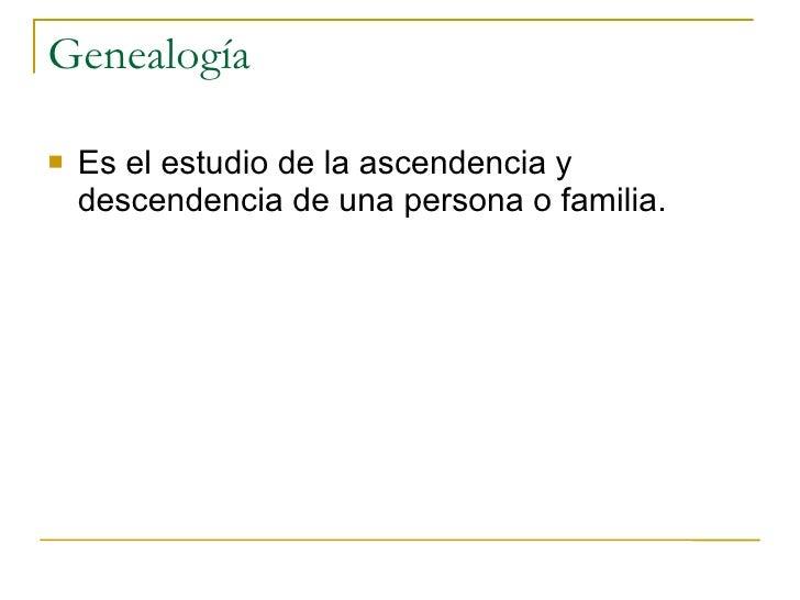 Genealogía y Archivística Slide 2