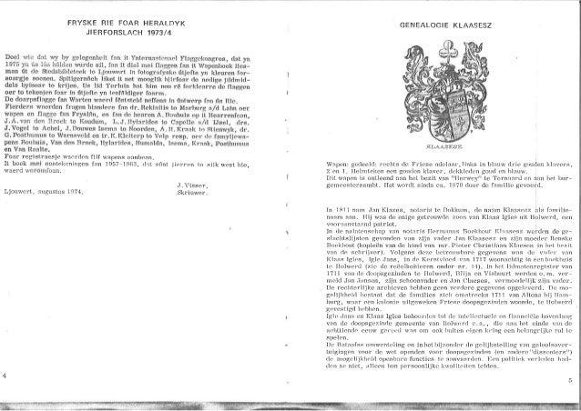 FRYSKE HIE FOAR HERALDYK JIERFORSLACH 1973/4  Doe] wlo dnt ivy by gclegcnholl frin it Yntcrn: iqlmi: i<-I FI. 'l[', '[Zl'....