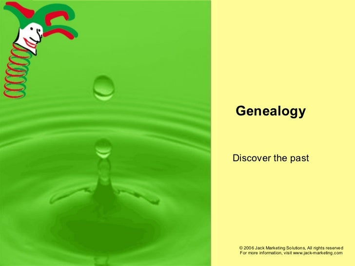 Genealogy Discover the past