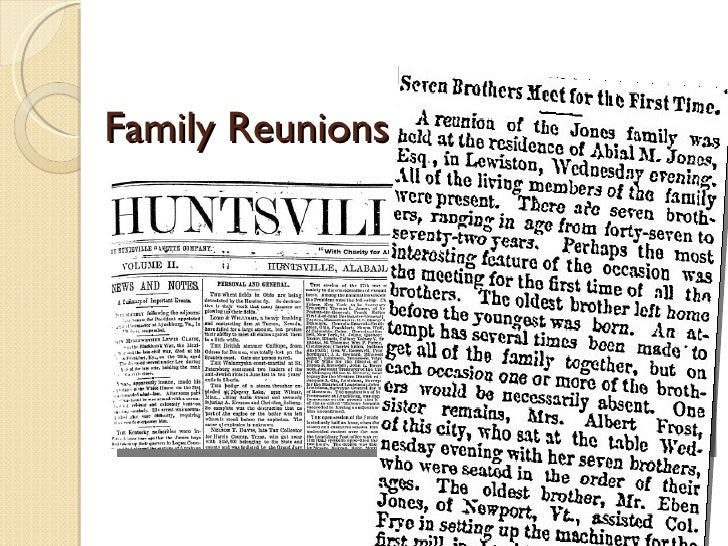 genealogy newspaper research Discover your family history explore the world's largest collection of free family trees, genealogy records and resources.