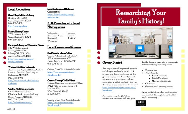 Genealogy Brochure