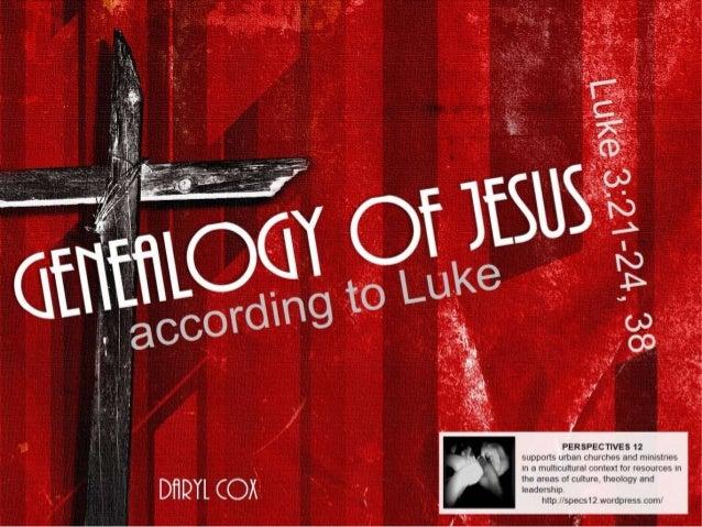 Genealogy of Jesus according to Luke (PerSpectives 12)