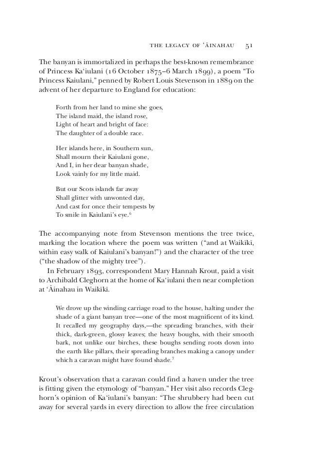 Genealogy of ka'iulani's banyan