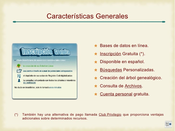 Geneanet - Informe PDF Slide 2