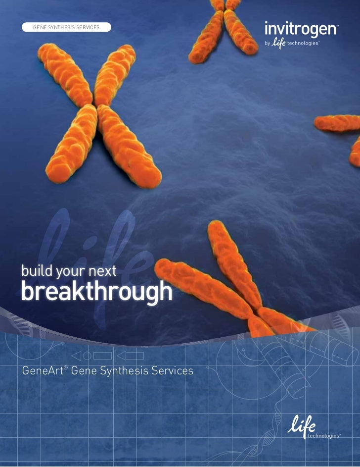 gene art GeneArt® services - Gene synthesis through protein production