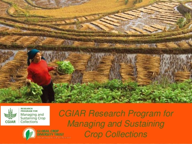 CGIAR Research Program forManaging and SustainingCrop Collections