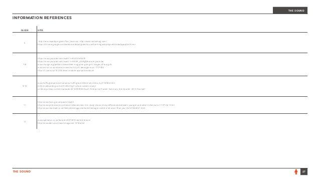 INFORMATION REFERENCES 27THE SOUND THE SOUND SLIDE SITE 6 http://en.wikipedia.org/wiki/Tavi_Gevinson, http://www.rookiemag...