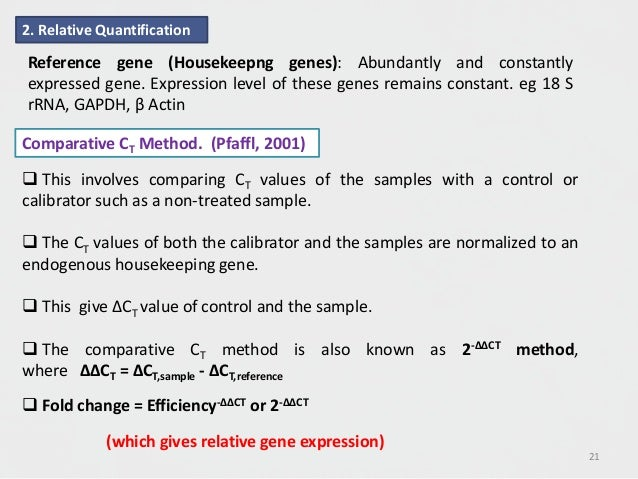 Gene Expression Analysis by Real Time PCR