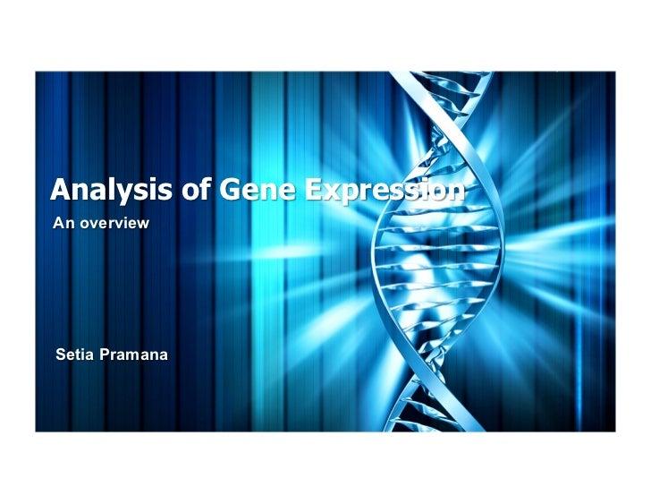 Analysis of Gene ExpressionAn overviewSetia Pramana