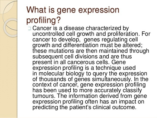 Gene expression profiling in breast carcinoma