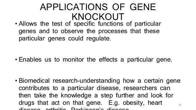 gene knockout