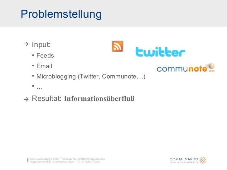 Geneme: Aggregation und Personalisierung von Informationsströmen Slide 3