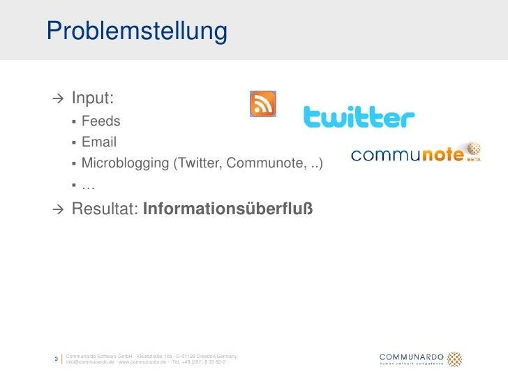 Aggregation, Filterung und Visualisierung von Nachrichten aus heterogenen Quellen Slide 3