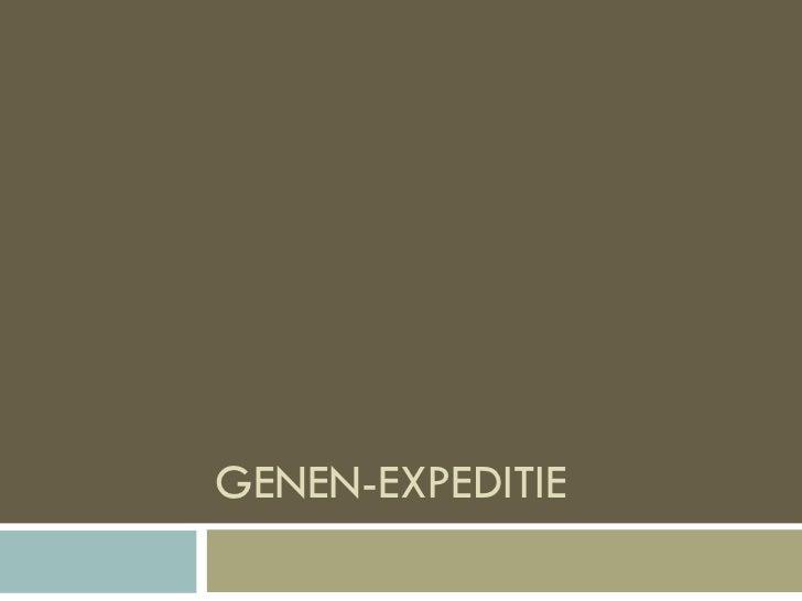 GENEN-EXPEDITIE