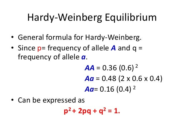 How To Find Expected Genotype Frequency