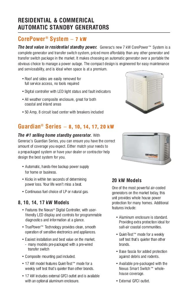 Thornton Heating Services   Generac Automatic Standby
